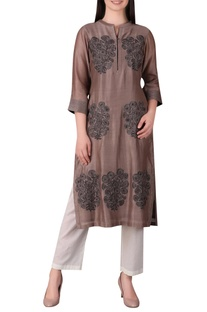 Mughal floral motif embroidered tunic