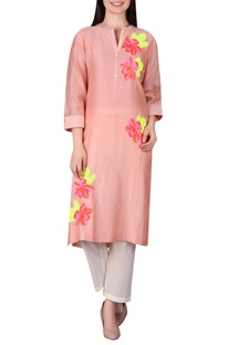 Rose motif embellished tunic