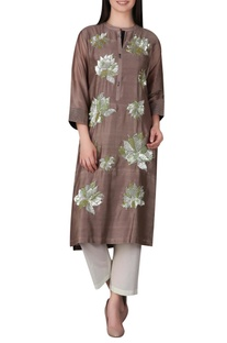 Tunic embellished with tonal sequins