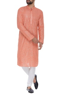 Sequin embroidered kurta and pants