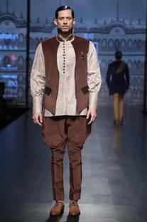 Leather shirt & jacket set