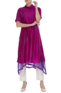 Layered cowl neck kurta