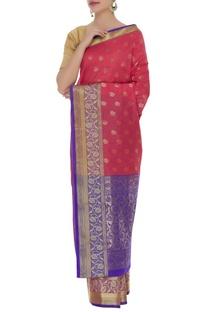 Classic banarsi sari with unstitched blouse