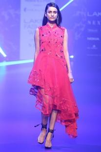 Sequin & floral applique dress