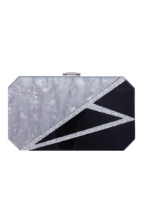 Marble textured clutch