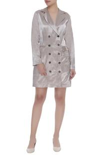 Blazer dress with front pocket