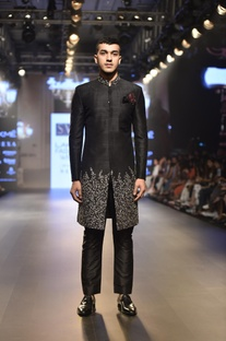 Embellished sherwani with pants
