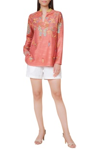 Hand embroidered short tunic