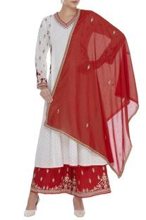 Printed kurta with embroidered palazzo pants & dupatta