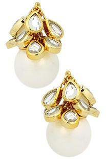 Paradise dew cluster pearl earrings