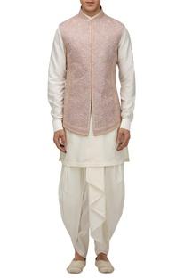 Matka silk dori embroidered bundhi jacket