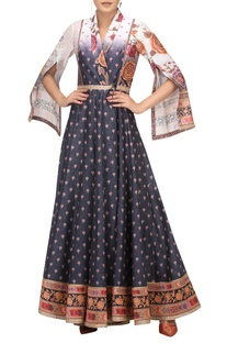 Double breasted anarkali with churidar