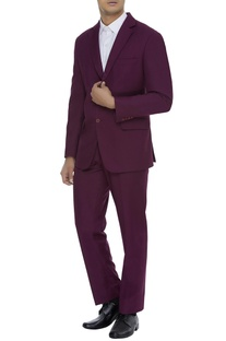 Wool blend suit set