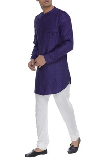 Kurta with overlap collar