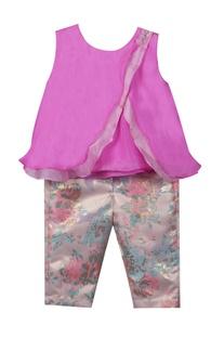 Bamber silk top with brocade pants