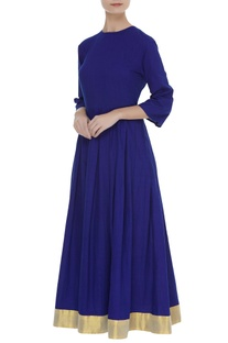Anarkali dress with hand painted detail