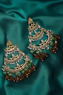 Embellished hexa sparkle earrings