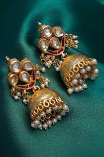 Classic embellished jhumkas