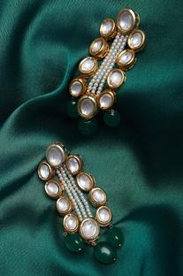 Jadau dangler earrings
