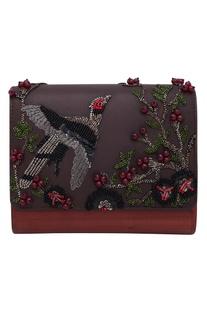 Bird Embroidered sling bag