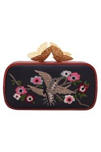 Cutdana embroidered clutch