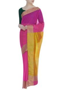 Chanderi striped woven sari