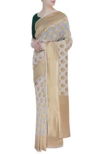 Zari work swiss cotton sari