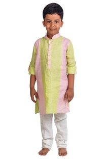 Paneled kurta with pants