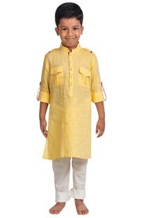Linen kurta with pants
