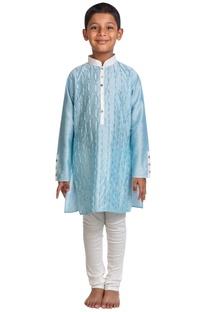 Textured pattern kurta set