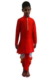 Foil printed kurta with dhoti