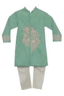 Cotton silkn embroidered sherwani