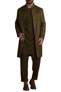 Handwoven silk sherwani