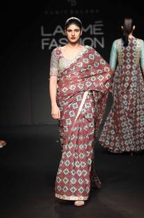 Chiffon sari with blouse