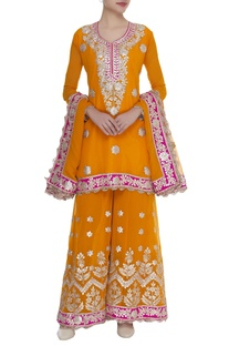 Gota embroidered sharara set