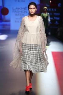 Pinafore dress with inner shirt dress & pants