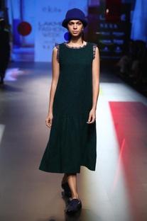 Merino wool jacquard dress