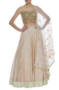 Sequins Embroidered Lehenga Set