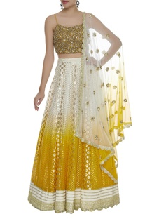 Ombre Embroidered Lehenga Set