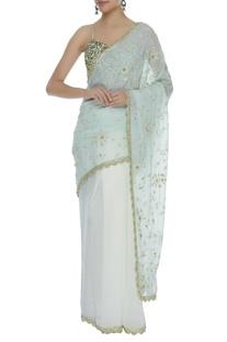 Hand & Dori Embroidered Ombre Saree & blouse