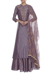 Embroidered Kurta With lehenga & Dupatta