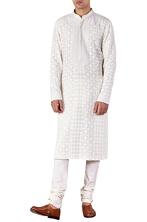 Lucknowi Embroidered Kurta