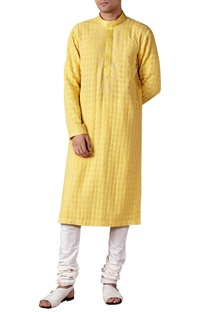 Thread embroidered long kurta