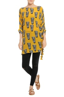 Printed short tunic