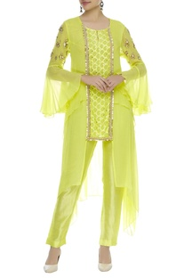 Sequin embroidered double layered kurta set