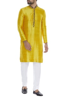 Hand embroidered kurta with...