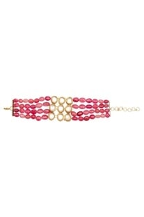 Polki beaded layered bracelet