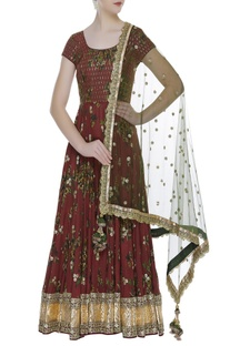 Printed & embroidered anarkali...