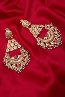 Dangler earrings with pearls