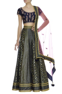 Brocade & Zardozi embroidered Lehenga Set